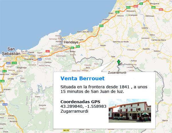 Mapa Orientativo para llegar a Venta Berrouet